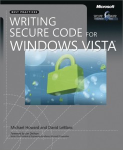 Writing secure code for vista